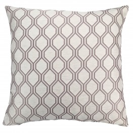 Andante Contemporary Decorative Feather and Down Throw Pillow In Birch Jacquard Fabric