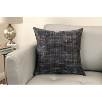 Coban Contemporary Decorative Feather and Down Throw Pillow In Blue Dusk Jacquard Fabric