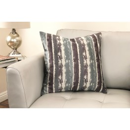 Murray Contemporary Decorative Feather and Down Throw Pillow In Aqua Jacquard Fabric