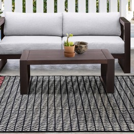 Paradise Outdoor Dark Eucalyptus Wood Coffee Table