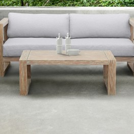 Paradise Outdoor Light Eucalyptus Wood Coffee Table