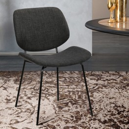 Quest Charcoal Modern Dining Accent Chair