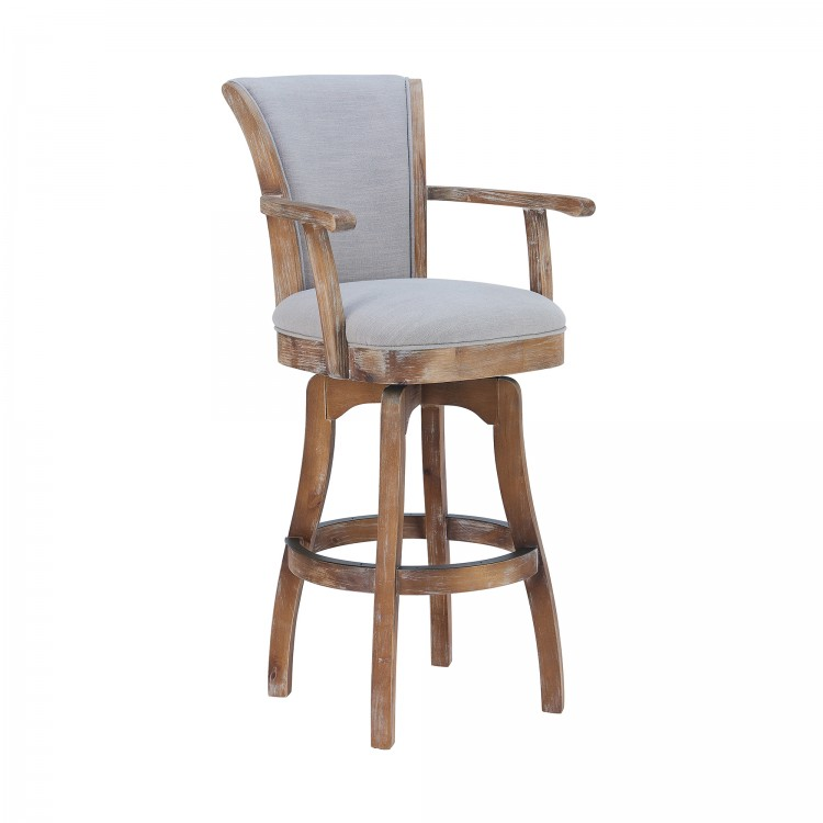 Wondrous Raleigh Arm 26 Counter Height Swivel Barstool In Distressed Pabps2019 Chair Design Images Pabps2019Com