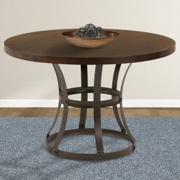 Saugus Contemporary Dining Table in Auburn Bay Finish with Sedona Wood Top