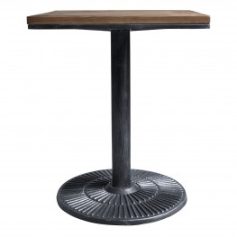 Armen Living Talia Industrial Pub Table in Industrial Grey and Pine Wood