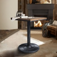Talia Industrial Table in Industrial Grey and Pine Wood
