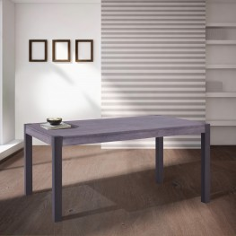 Tatum Contemporary Dining Table in Mineral Finish and Gray Walnut Top