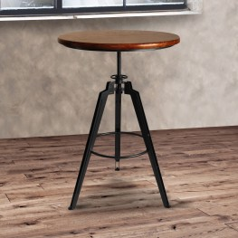 Tribeca Pub Table in Industrial Gray finish with Pine Wood Table top
