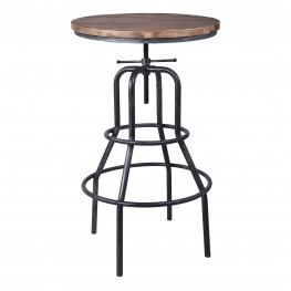 Titan Industrial Pub Table in Industrial Grey and Pine Wood