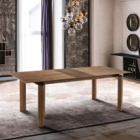 Treviso Mid-Century Dining Table in Walnut Finish and Walnut Top