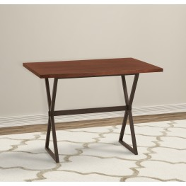 Valencia Contemporary Rectangular Bar Table in Auburn Bay Finish with Sedona Wood Top