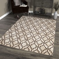 Windmeyer Contemporary 8x10 Area Rug in Beige/Brown