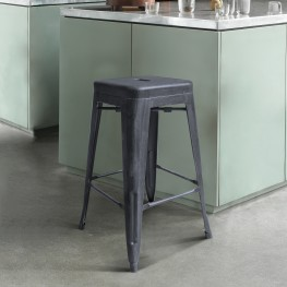 "Zed Industrial 26"" Counter Height Barstool  in Industrial Grey"