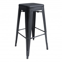"Zed Industrial 30"" Bar Height Barstool  in Industrial Grey"