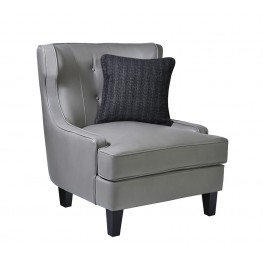 Skyline Chair In Smoke Bonded Leather