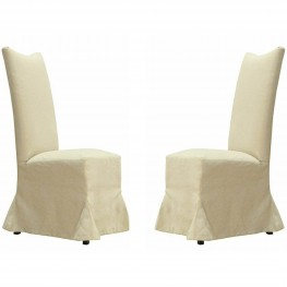 Tuxedo Linen Dining Chair (Set Of 2)