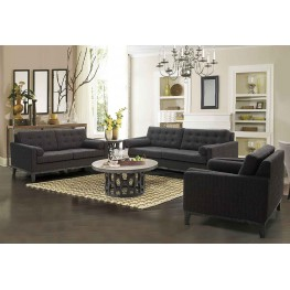 Centennial Loveseat Charcoal Chenille Fabric