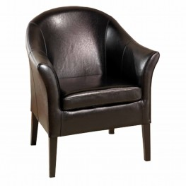 Beautiful 1404 Black Leather Club Chair