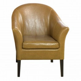 camel leather club chair - Brown Leather Club Chair