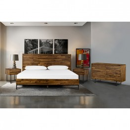 Cusco 4 Piece Acacia King Bedroom Set with Dresser and Nightstands