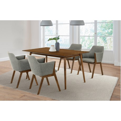 Westmont and Renzo Charcoal and Walnut 5 Piece Dining Set