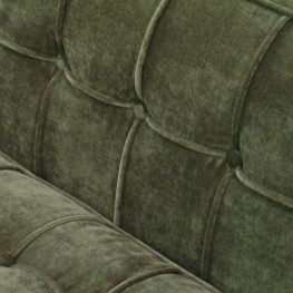 Roxbury Loveseat In Tufted Green Fabric