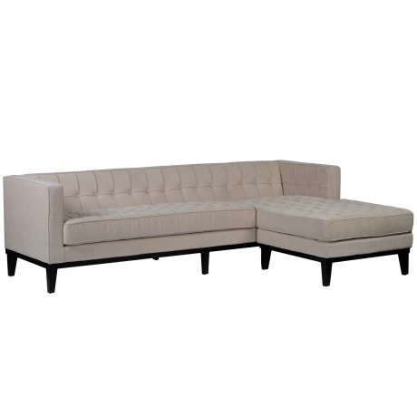 Roxbury Reversible Cream Fabric Sectional