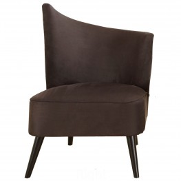 Elegant Accent Chair With Flared Back (Right Side) In Black Microfiber