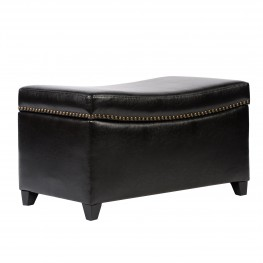 Congo Ottoman In Brown Bonded Leather