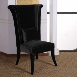 Mad Hatter Dining Chair In Black Rich Velvet