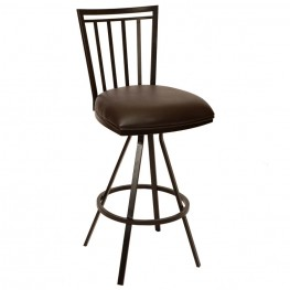 "Aidan 26"" Transitional Barstool In Coffee and Auburn Bay"
