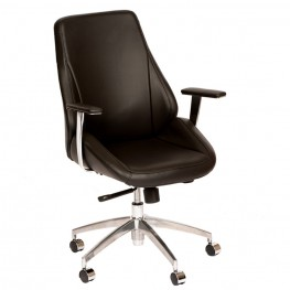 Argo Contemporary Office Chair In Black and Chrome