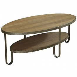 Barstow Coffee Table With Gunmetal Frame