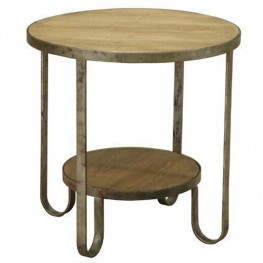 Barstow End Table With Gunmetal Frame