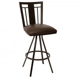 "Cleo 26"" Transitional Barstool In Coffee and Auburn Bay"