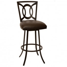 "Drake 26"" Transitional Barstool In Coffee and Auburn Bay"