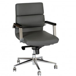 Fabian Modern Office Chair In Gray and Chrome