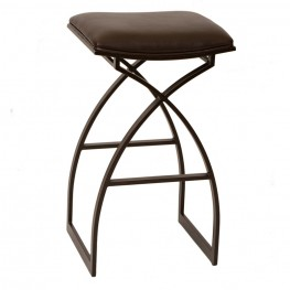 "Harper 30"" Modern Barstool In Coffee and Auburn Bay Metal"