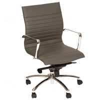 Hannah Contemporary Office Chair In Gray and Chrome