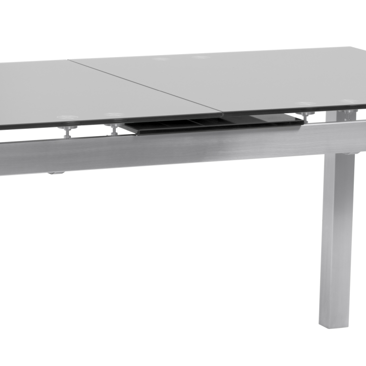 Armen Living Ivan Extension Dining Table In Brushed