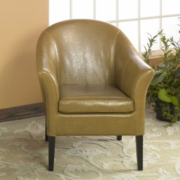 1404 Camel Leather Club Chair