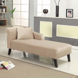 Patterson Chaise In Taupe Velvet Fabric
