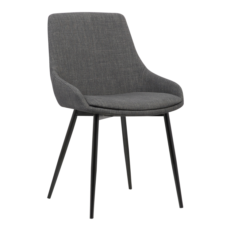 Mia Contemporary Dining Chair in Gray Fabric with Black Powder Coated Metal Legs  sc 1 st  Armen Living & Armen Living Mia Contemporary Dining Chair in Gray Fabric with Black ...