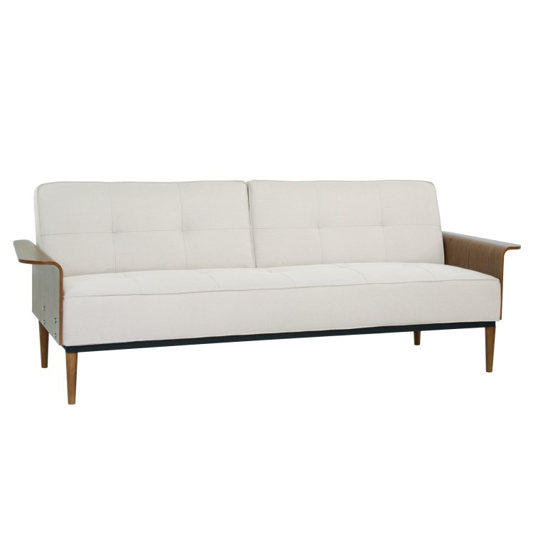 armen living monroe mid century convertible futon in beige tufted fabric and walnut wood living monroe mid century convertible futon in beige tufted fabric      rh   armenliving