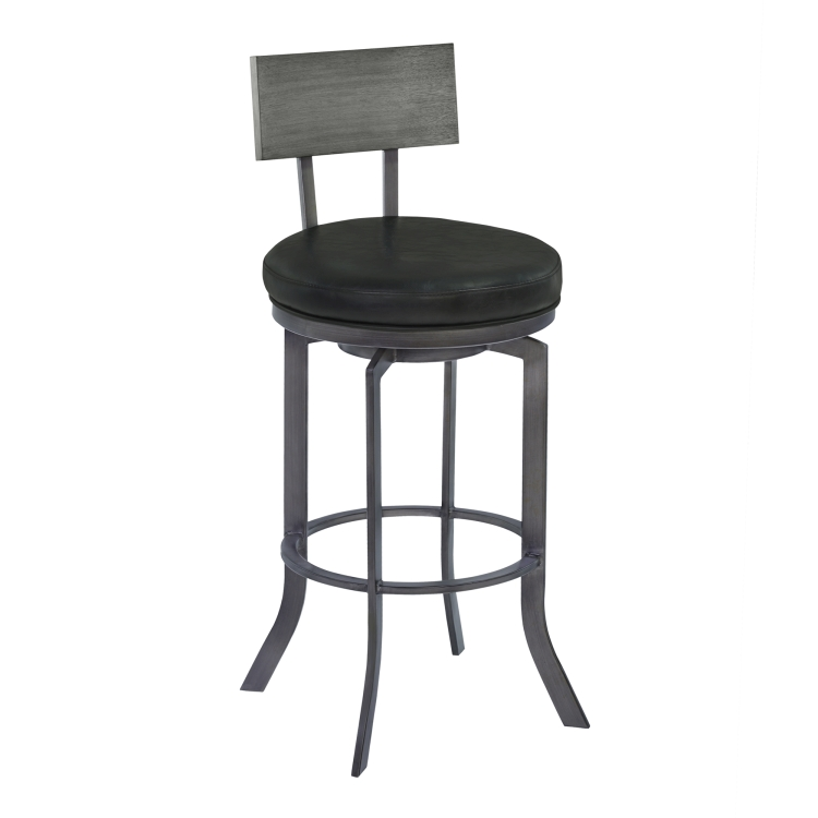 Armen Living Ojai 26 Counter Height Metal Swivel Barstool In