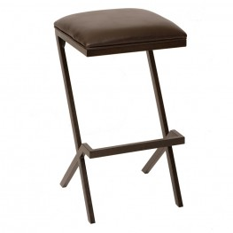 "Sasha 30"" Modern Barstool In Coffee and Auburn Bay Metal"