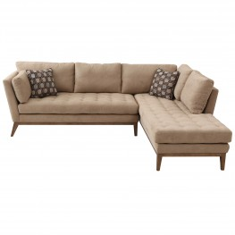Sahara Sectional In Cream Fabric