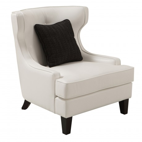 Skyline Chair In White Bonded Leather