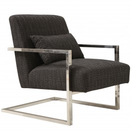 Skyline Accent Chair In Charcoal Fabric
