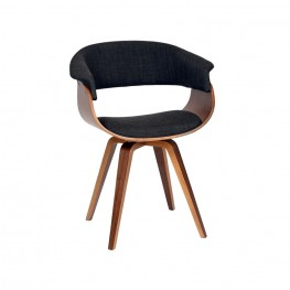 Summer Modern Chair In Charcoal Fabric and Walnut Wood